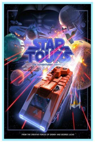 "VINTAGE DISNEY POSTER STAR TOURS DISNEY WORLD 8.5/"" x 11/""  B2G1 FREE!!"
