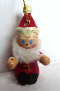 MIniature-Santa-Claus-Wooden-Christmas-Ornament-1984-vintage-1-3-4-034