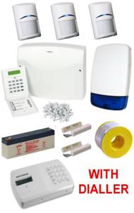 Scantronic 9651 EN41 Wired Intruder Alarm System LCD Keypad With 3 Bosch PIR/'s