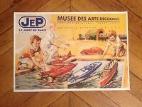 Affiche Jep Jouet De Paris 1902 - 1968 Hydravion Train Canot Voiture