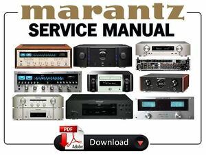 marantz audio video receiver amplifier service manual choose your rh ebay com