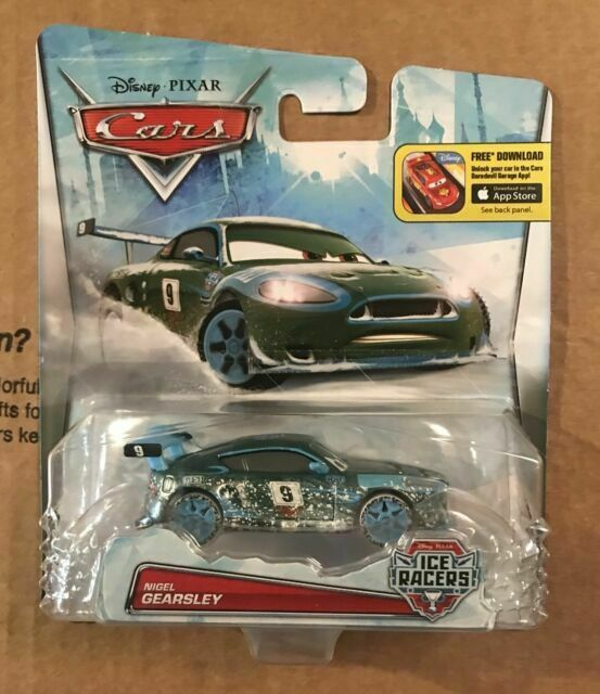 DISNEY PIXAR CARS ICE RACERS NIGEL GEARSLEY Mattel BRAND NEW 1:55 Scale