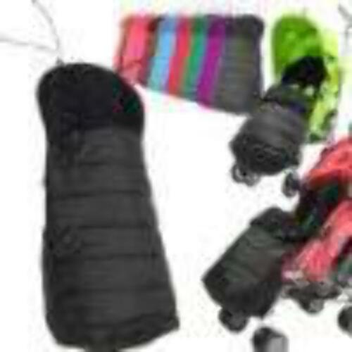 New Pushchair Footmuff To Fit Silver Cross Pop Black