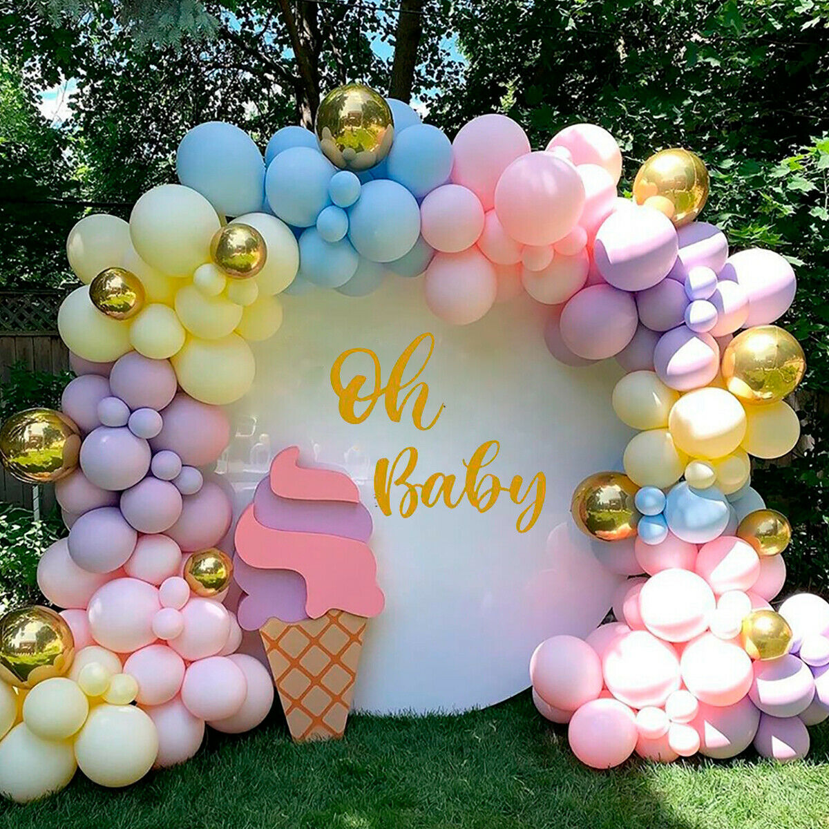 Wedding Macaron Pastel Balloon Arch Garland Kit Baby Shower Birthday Party Decor Ebay