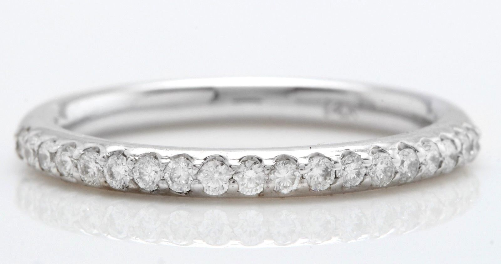 .44 Carat Natural VS2-SI1 DIAMONDS in 14K Solid White gold Women Engagement Ring
