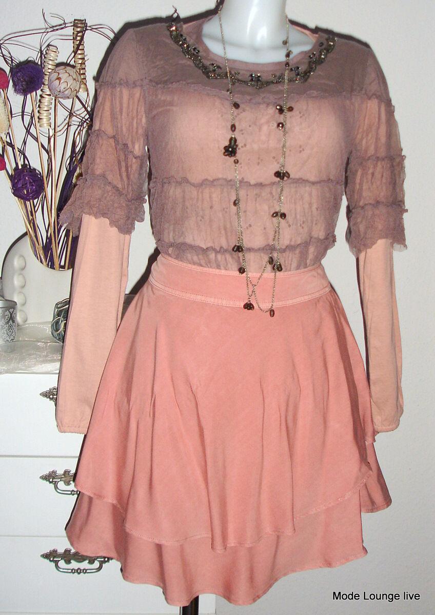 Kaffe - Skirt Isabella - pink pink M 38 - Viscose - NEW orange Peach