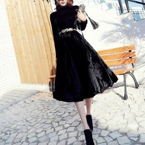 Nero Raffinato 3529 Abito Vestito Giallo Donna Elegante Fashion Lungo Morbido dxqHX7Uz