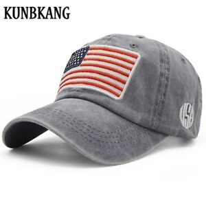 Retro Distressed USA Flag Patriotic Unisex Baseball Cap Classic Adjustable Plain Cap