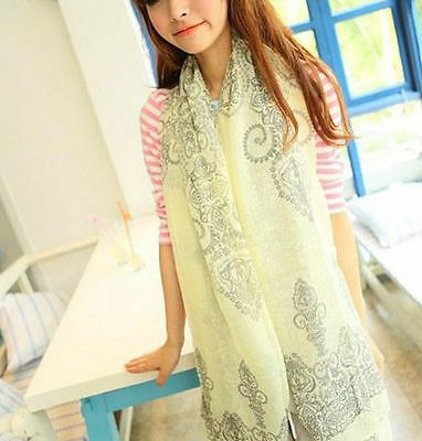 New Women Long Neck Large Scarf Wrap Shawl Pashmina Soft Scarves Chiffon Cotton