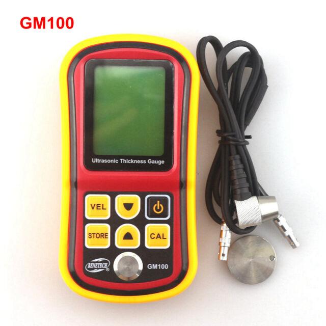 GM100 High Accuarcy Digital Ultrasonic Thickness Gauge 1.2-220mm Steel Width Tester