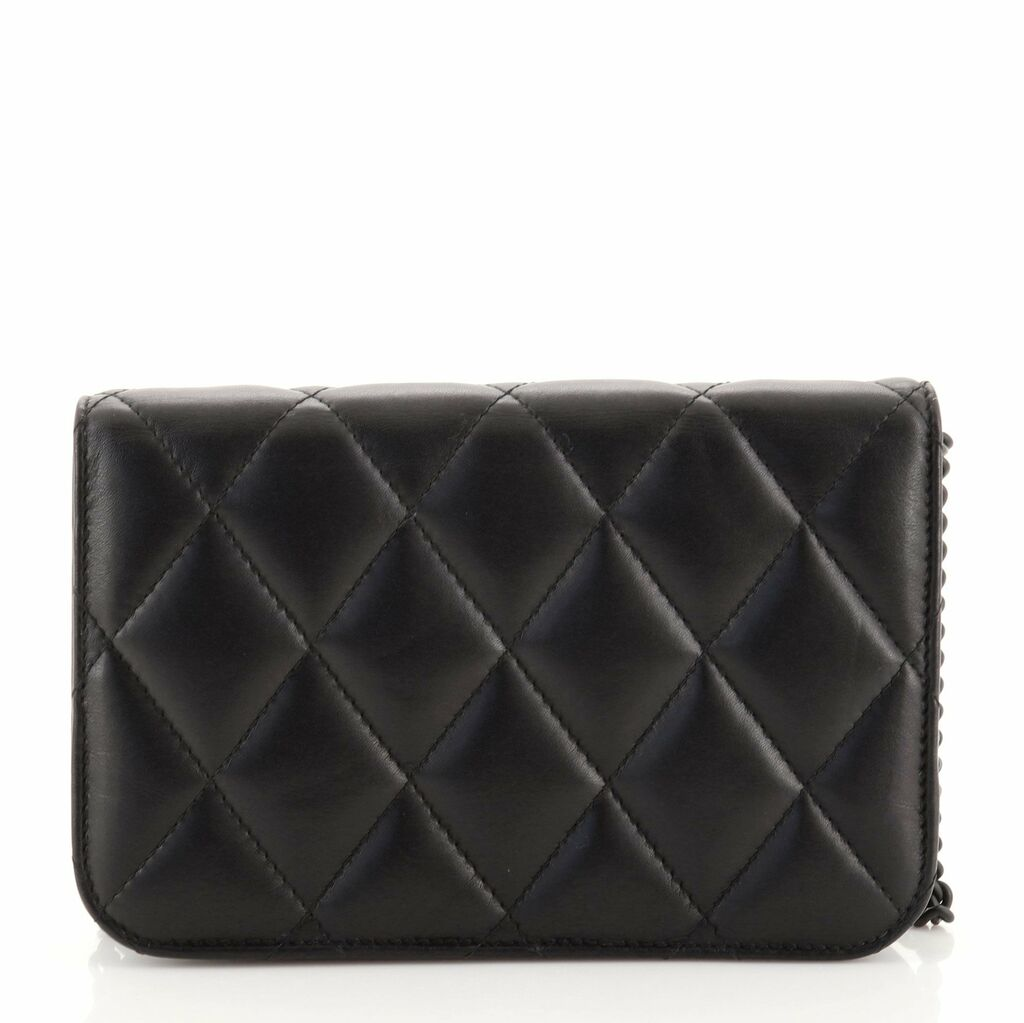Balenciaga B. Wallet on Chain Quilted Leather  | eBay
