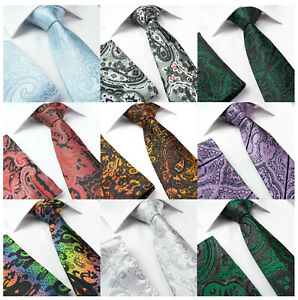 0e9514994a Details about Men's Silk Jacquard Woven Necktie Tie Black Silver Green Red  Blue FREE HANKY