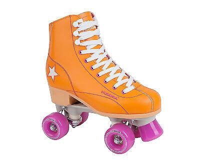 Rollschuh Roller Disco Kunstlederrollschuh Gr. 36 Discoroller Orange lila Kinder
