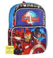 Captain America Civil War 16 Full-size Backpack W/ Optional Insulated Lunch Box