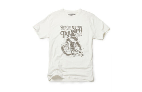 GENUINE TRIUMPH MOTORCYCLE T-SHIRT AW18 GUS TEE