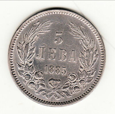 Bulgarie ( Prince Alexandre ) 5 Leva 1885