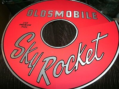 1961 1962 1963 1964 OLDSMOBILE SKY ROCKET AIR CLEANER TOP LID DECAL RED CLEAR