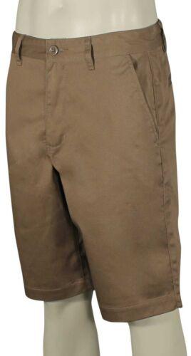 New Dark Khaki RVCA Americana Solid Walk Shorts