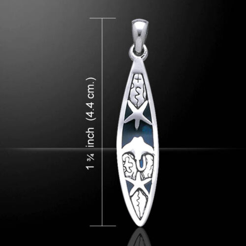 Starfish /&  Stingray Surfboard Ocean Sterling Silver Pendant Peter Stone Jewelry