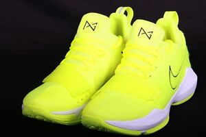 4058a15279b1 Nike PG 1 Tennis Ball Volt Black White Paul George Men s 878627 700 ...