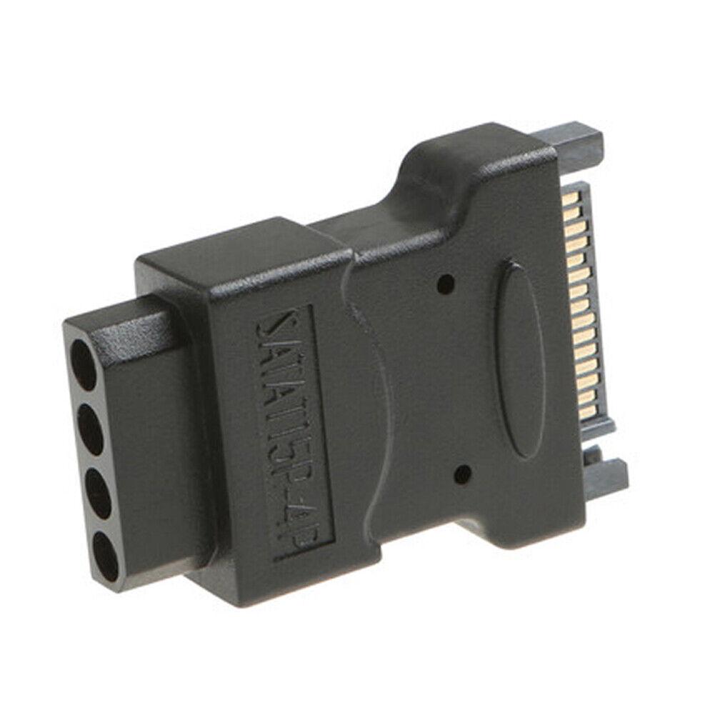 Q10 15pin Serial-Ata SATA Plug To 4pin Molex Socket Adapter AC Adapter PC