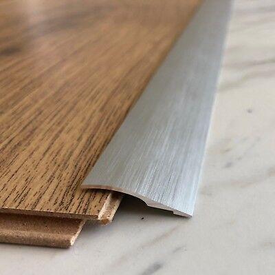 Brushed Aluminium Door Floor Bar Edge, Laminate Flooring Trim Glue