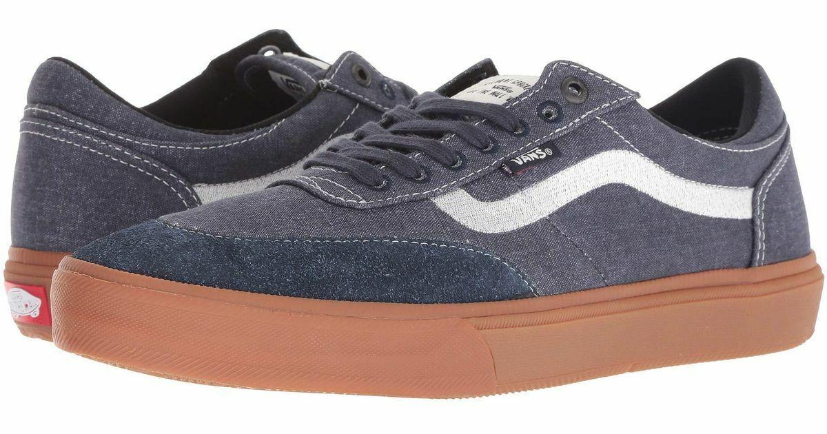 Vans Gilbert Crockett Cuero Crudo Azul marino Zapatos de hombre 9