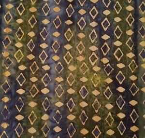 Green-Tea-Batik-BTY-Princess-Mirah-Design-Bali-Fabrics-Olive-Tan-Navy-Diamonds