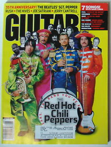 August 2002 Guitar World Beatles Red Hot Chili Peppers Sergeant