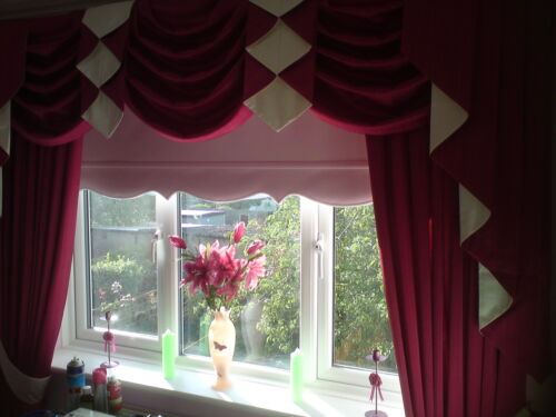 "Scallop Roller Blinds Made to Measure 5ft upto 6ft 72""180cm All Fabrics"