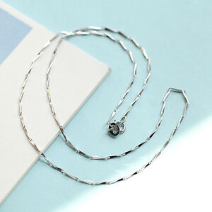 GENUINE-925-Sterling-Silver-Solid-1MM-Seeds-Chain-Necklace-for-Pendant-Stunning