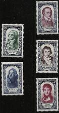 France Scott #B249-51 & B253-54, Singles 1950 FVF MNH