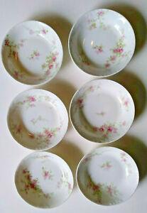 Set of 6 Antique Thiodore Haviland France Limoges Berry Bowls