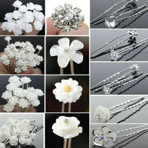 20X-Crystal-Flower-Bobby-Hair-Pins-Wedding-Bridal-Diamond-Clip-Hair-Accessories