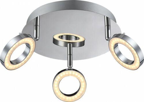 LED Decken Leuchte Chrom Spot Strahler Rondell verstellbar Wohn Zimmer Lampe