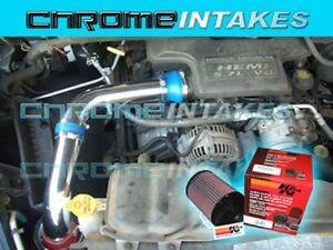 BLACK BLUE 02 03-07 DODGE RAM 1500 3.7 3.7L V6 FULL COLD AIR INTAKE KIT STAGE 3