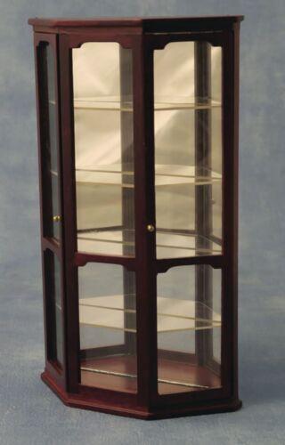 1:12 SCALA 4 Mensola in mogano display Case tumdee Casa delle Bambole Miniatura 6002