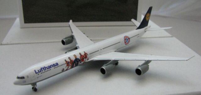 Herpa Wings 1/500 Lufthansa Airbus A340-600 FC Bayern Audi Summer Tour USA 2016