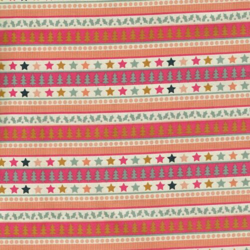 Fabric Freedom Xmas Scandi 100/% Cotton Fabric FQ Crafting Patchwork Multi Colour