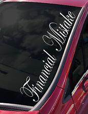 FINANCIAL MISTAKE Windscreen VW VDUB EURO JDM FORD HONDA vinyl decal sticker