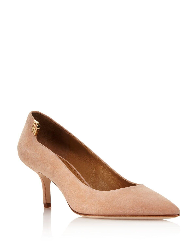 Tory Burch  Women's Size Elizabeth Suede Pointed Toe Pumps Perfect Blush Size Women's 6.5 75ed52