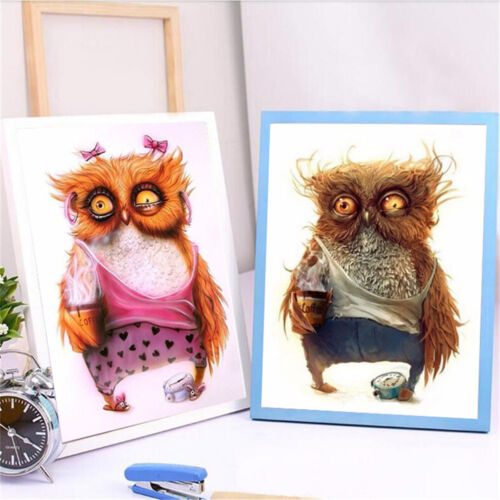 5D DIY Animal Owl Diamond Embroidery Painting Cross Stitch Picture Mosaic Kit