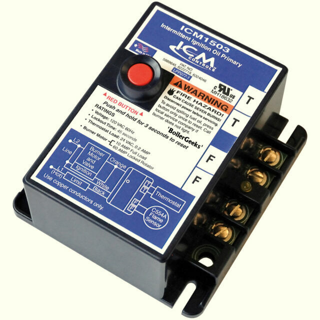 FAST!--45 second safety-w//JUMPER 4 HOUR SHIPPING ICM1503-J Oil Primary Control