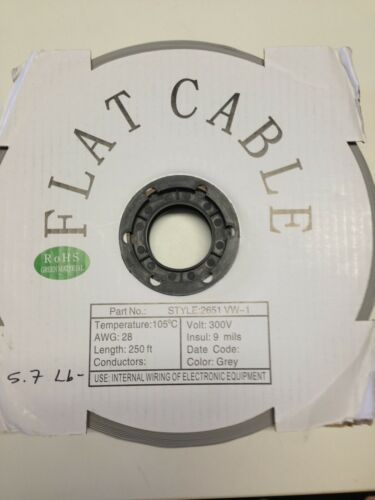 Flat Cable 14 Pin 14 Wires IDC Flat Ribbon 12 Ft Long 2.54 mm Pitch