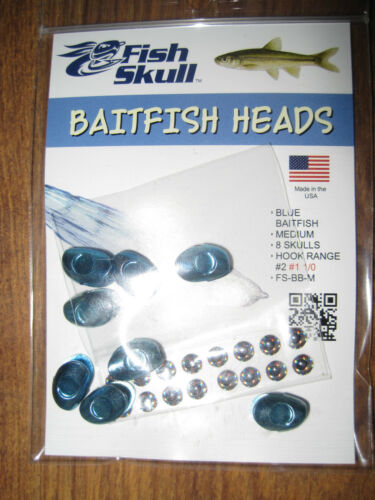 NEW Fish Skull Weighted Heads Medium Size for all Salmon /& Saltwater Flies BB