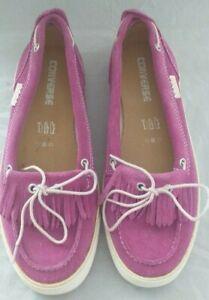 Converse Ladies Purple Suede Leather
