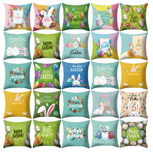 Am-KF-18-039-039-Happy-Easter-Rabbit-Bunny-Egg-Pillow-Case-Sofa-Bed-Car-Cushion-Cove