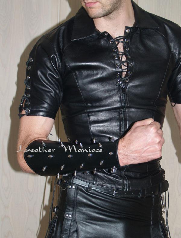 Lederhemd mit Schnürung Leder Hemd Gothic Mittelalter Mittelalter Mittelalter Leather cuir shirt     | Haltbarkeit  03c1cd
