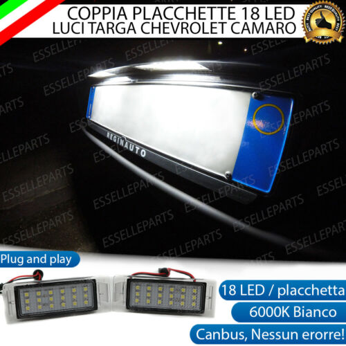 PLACCHETTE A LED LUCI TARGA 18 LED SPECIFICHE CHEVROLET CAMARO 6000K NO ERROR