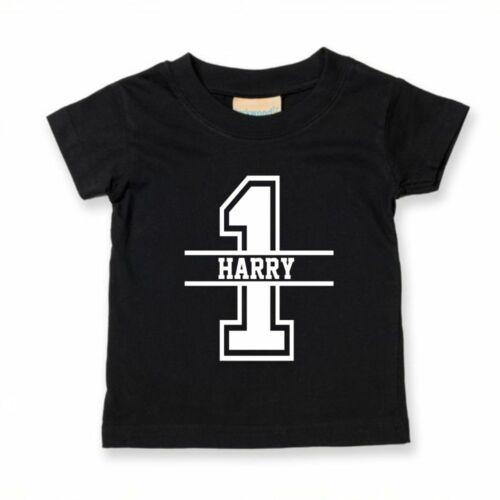 1st Birthday Personalised Kids Tshirt Birthday Childs Age Gift Party Children